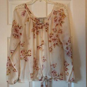 Floral Sheer American Rag Shirt